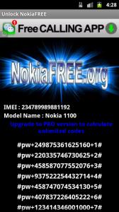 NokiaFRee unlock android screen 3